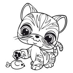 Desenhos para colorir e pintar Littlest pet shop 24