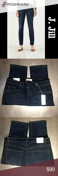 ♥️NWT J. Jill Smooth Fit Slim Ankle Jeans Brand New With Tags J. Jill Smooth Fit Slim Ankle Jeans In SOLSTC WASH.   Sits just below the waist with a slightly higher rise in back. Slightly fitted through the hips & thighs. Traditional 5 Pocket Styling.   Size 8 Brand New With Tags Retails $109.00 J. Jill Jeans Ankle & Cropped