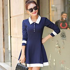 Korean fashion simple sweet dress
