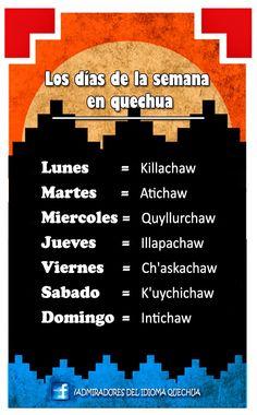 ADMIRADORES DEL IDIOMA QUECHUA: Lecciones quechua