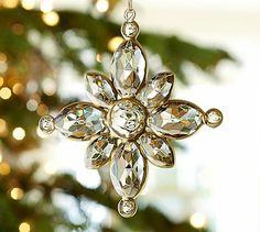 Crystal Snowflake Ornament #potterybarn