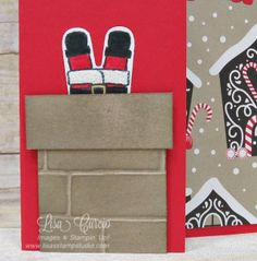 Cookie Cutter Christmas, Santa down the chimney, Lisa's Stamp Studio, www.lisasstampstudio.com