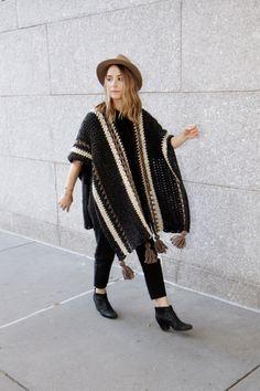 Ravelry: Wanderlust Ruana pattern by Alexandra Tavel Christmas Knitting Patterns, Crochet Patterns, Crochet Shawl, Knit Crochet, Knitted Capelet, Baby Scarf, Dress Gloves, Yarn Brands, Crochet Clothes