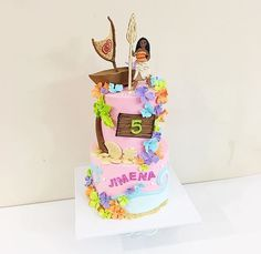Moana Themed Party, Moana Birthday Party, Moana Party, 6th Birthday Parties, Luau Party, Birthday Ideas, Bolo Moana, Party Rock, Cake Smash Photos