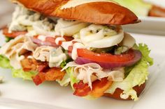 Cobb salad sandwich..