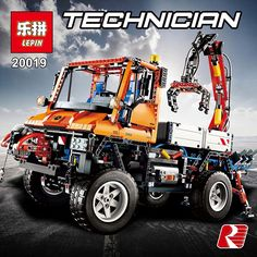 105.00$  Watch now  - Lepin 20019 Technic Unimog U 400 building bricks blocks Toys for children boys Game Model Car Gift Compatible with Bela 8110