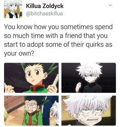 They are so fking cute Killua, Hisoka, Hunter Anime, Hunter X Hunter, Hxh Characters, Ging Freecss, Seven Deadly Sins, Manga Games, I Love Anime