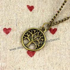 Bronze wish tree fashion necklace fashion jewelry by ArtemisSword, $0.20