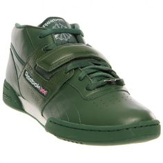 NEW REEBOK WORKOUT MID STRAP Racing Green MENS NIB vintage classic #Reebok #AthleticSneakers