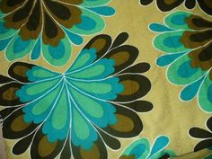 lovely retro fabric  #fabric #retro aqua turquoise teal
