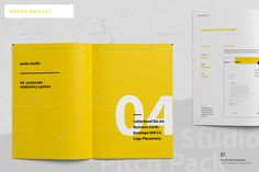 Buy Brand Manual by egotype on GraphicRiver. Brand Manual and Identity Template – Corporate Design Brochure – with real text! Booklet Design, Book Design Layout, Print Layout, Brochure Design Layouts, Label Design, Package Design, Magazine Design, Graphic Design Magazine, Portfolio Book