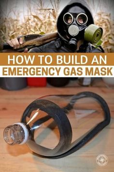 How To Build An Emergency Gas Mask - You can buy top notch military grade gas masks from the Internet, hardware stores and from military surplus outlets but what if you needed one quickly and in an emergency? See how to build your own right here! Survival Life Hacks, Survival Food, Outdoor Survival, Survival Prepping, Survival Skills, Survival Quotes, Outdoor Camping, Camping Survival, Emergency Preparedness Kit