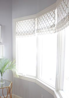 DIY Faux Roman Shade-hot glue only, no sew. Inoperable, but very easy look for under cornice board.