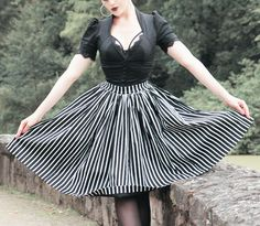 Jenny Skirt Victorian Stripes Lilith Blouse Black Pinup Couture Couture For Everybody Laura Byrnes Pinup Girl Clothing
