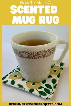 Make your home smell amazing! We show you How To Make A Scented Mug Rug! This is a fun twist on a classic drink coaster. Just sprinkle in some spice and your house will smelling fresh. easy sewing. How To Make A Scented Mug Rug Sewing Projects For Beginners, Easy Sewing Projects, Sewing Hacks, Sewing Ideas, Homemade Crafts, Crafts To Make, Diy Crafts, Mug Rug Patterns, Sewing Patterns