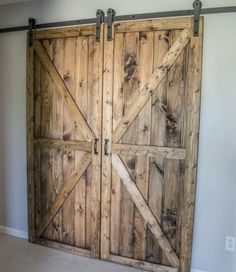 Barn Door How To Make A Inside. Stylish Sliding Barn Door Ideas - The Owner Builder Network. White Barn Door Home Design Ideas Pictures Remodel And Decor. Home Design Ideas Barn Door In House, Diy Barn Door, Diy Door, Farm House, Double Sliding Barn Doors, Sliding Barn Door Hardware, Cheap Bathroom Makeover, Diy Interior Doors, Interior Design