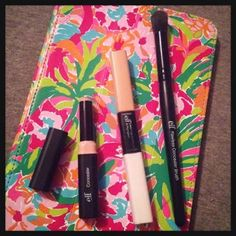 Monogrammed Magnolias | One Brand, One Look: e.l.f. | elf Cosmetics | Stick Concealer, Under Eye Duo Ended Concealer, and Flawless Concealer Brush