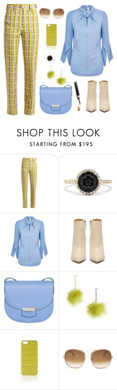 """""""Untitled #2510"""" by ebramos ❤ liked on Polyvore featuring Miu Miu, Effy Jewelry, Victoria Beckham, CÉLINE, Tuleste and Chloé"""