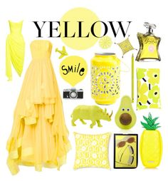 """Yellow by MATILDA BANKES"" by matilda0bankes ❤ liked on Polyvore featuring Isabel Sanchis, Herman Miller, Selamat, Forever 21, Faber-Castell, Bond No. 9, Trina Turk, Michael Aram and Oscar de la Renta"