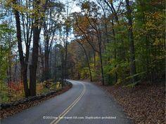 Fall foliage in East Haddam, Connecticut