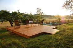 How amazing is this custom free standing deck? Check out Dagan Koffler's portfolio here and dream up your new deck!