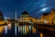 Wikipedia picture of the day on June 28 2017: Moon light view of the Bode Museum located on the Museum Island of Berlin Germany. The museum originally called the Kaiser-Friedrich-Museum (after Emperor Frederick III) and later honored to its curator Wilhelm von Bode was designed by architect Ernst von Ihne and completed in 1904. The museum hosts a collection of sculptures Byzantine art coins and medals. http://ift.tt/2tiEayg