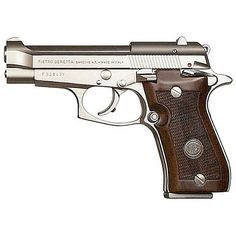Beretta 85F Cheetah .380 ACP Wood Grips Nickel Finish