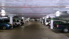 45 watt induction lighting in parking garage after lighting retrofit.