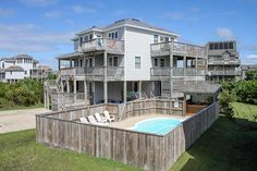 An Ultimate Beach House: 7 Bedroom, 6 1/2 Bath - Private Heated Pool - Oceanside- Waves NC