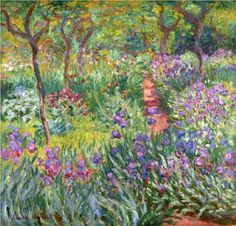 Claude Monet - The garden at Giverny