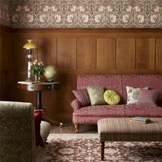 The Original Morris & Co - Arts and crafts, fabrics and wallpaper designs by William Morris & Company | Products | British/UK Fabrics and Wallpapers | Pimpernel (DM6P210386) | Morris Archive Wallpapers