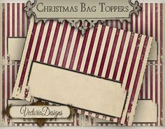 Christmas Candy Bag Topper printable gift tags by VectoriaDesigns, $3.65
