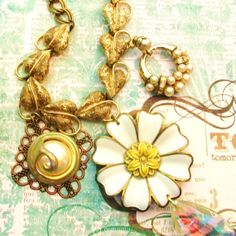 Necklace UpCycled RePurposed Vintage Jewelry by stephsjewels4, $36.00