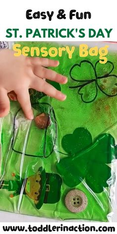 Easy, No Mess, Environmentally Friendly Sensory Bags, Sensory Toddler Activities, St Patricks Day - Entertaining Ideas March Crafts, St Patrick's Day Crafts, Daycare Crafts, Toddler Crafts, Saint Patricks Day Art, St Patricks Day Quotes, St Patricks Day Crafts For Kids, Toddler Learning Activities, Sensory Activities