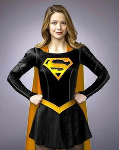 Black & gold Melissa Benoist as Supergirl Melissa Marie Benoist, Melissa Benoist Hot, Supergirl Superman, Supergirl And Flash, Batgirl, Super Heroine, Kara Danvers Supergirl, Melissa Supergirl, Superhero Cosplay