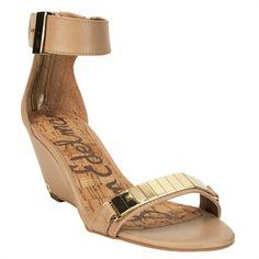 Sam Edelman Serena Sandal Wedge with Ankle Strap #VonMaur #Shoes #Wedges #Nude