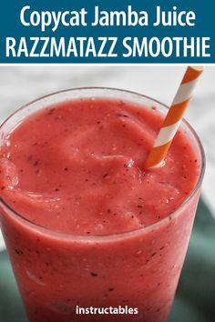Jamba Juice Recipes, Frozen Drink Recipes, Easy Smoothie Recipes, Easy Smoothies, Smoothie Ingredients, Fruit Smoothies, Strawberry Smoothie, Juice Smoothie, Smoothie Drinks