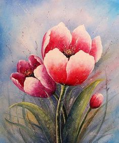 Pinturas Cuadros: Flores al Óleo Modernas