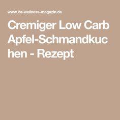 Cremiger Low Carb Apfel-Schmandkuchen - Rezept