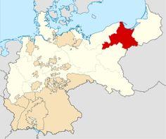 Hellblau: Lage der Provinz Westpreußen