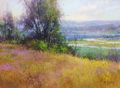 "Richard McKinley, ""Hillside View,"" pastel, 9 x 12 in, private collection"