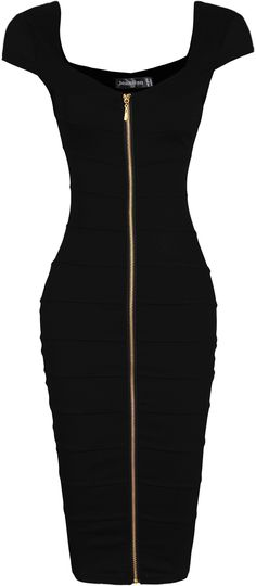 jeansian Women's Sexy O-Neck Front Zipper Gowns Pencil Dress Work Fashion, Fashion Outfits, Cute Dresses, Summer Dresses, Haute Couture Fashion, Pencil Dress, I Dress, Sexy Women, Evening Dresses