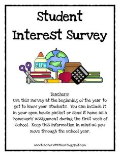 This survey is a great way to get to know your students at the beginning of the year. It is intended for parents to complete about their child in y...