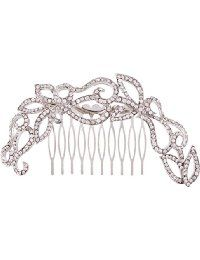 EVER FAITH® Austrian Crystal Art Deco Bride Long Hair Comb Accessories Silver-Tone Clear >>> You can get additional details at the image link. Side Comb, Hair Jewelry, Jewellery, Austrian Crystal, Hair Comb, Faith, Long Hair Styles, Bridal, Crystals