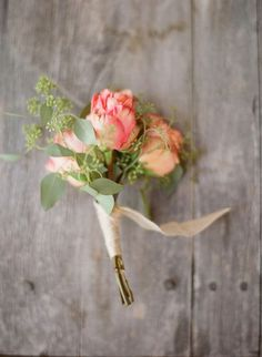 #boutonniere @Chelsea Rose Rose LaMay with blush and white baby roses instead?