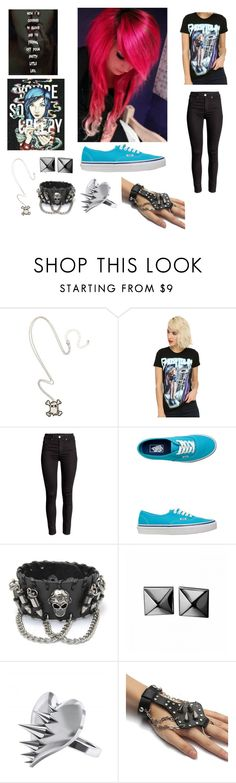 """You're So Creepy"" by emo-oreo-cookie ❤ liked on Polyvore featuring Vans, Waterford, LUSASUL, women's clothing, women, female, woman, misses and juniors"