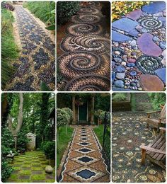 How beautiful...mosaic stone walkways