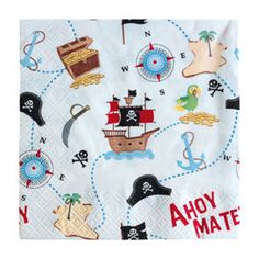 George Home Pirate Paper Napkins - ASDA Groceries Party Napkins, Asda, Table Covers, Pirates, Snoopy, Paper, Shopping, Design, Tablecloths