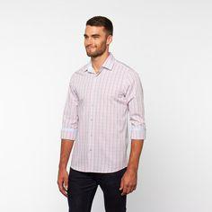Tattersall Button-Down Shirt // Pink (S)