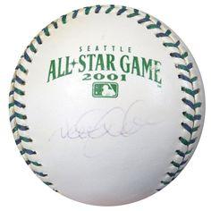 Derek Jeter Autographed Official 2001 All Star Baseball Yankees MLB Holo #AR062549
